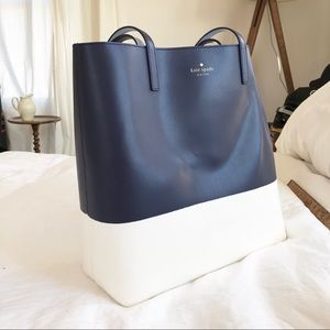 Kate spade leather and rubber tote